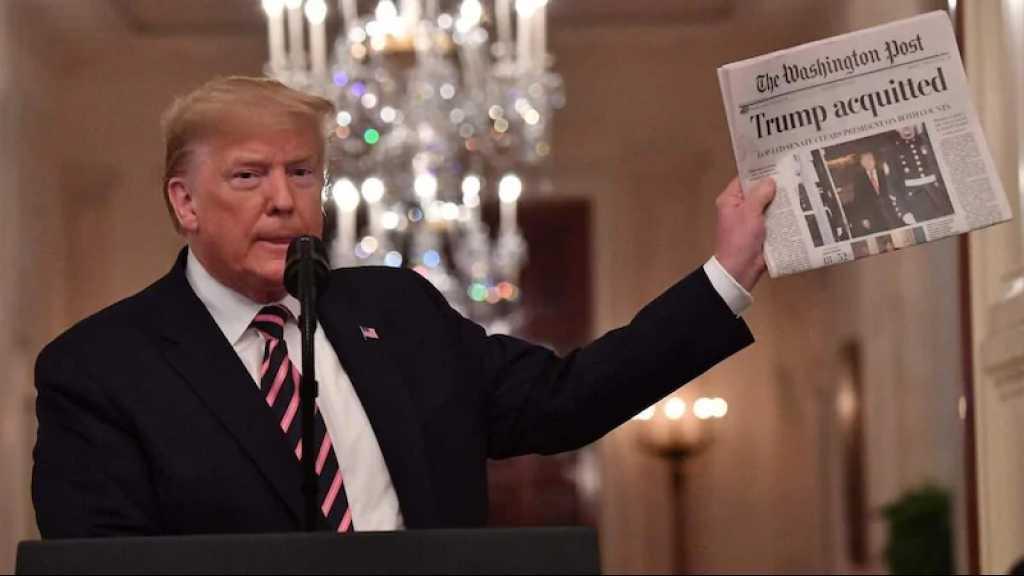 Destitution: Trump dit que le Congrès devrait «effacer» sa mise en accusation