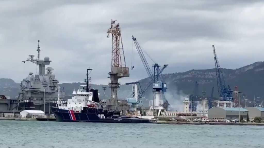 France: le sous-marin nucléaire Perle, en chantier à Toulon, touché par un incendie