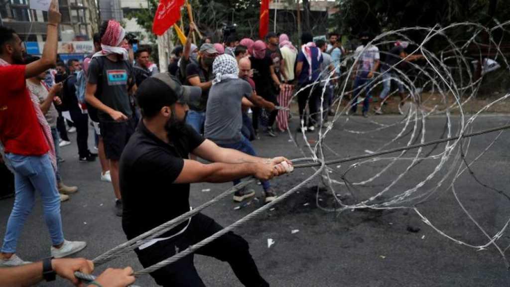 Liban: manifestation devant l'ambassade des Etats-Unis contre l'ingérence américaine