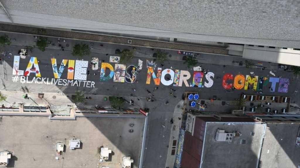 Black Lives Matter: à Montréal, une fresque géante en version française envahie les rues
