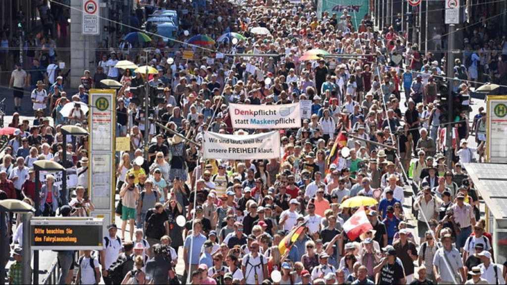 15.000 personnes à Berlin pour manifester contre les mesures prises pour contenir le coronavirus