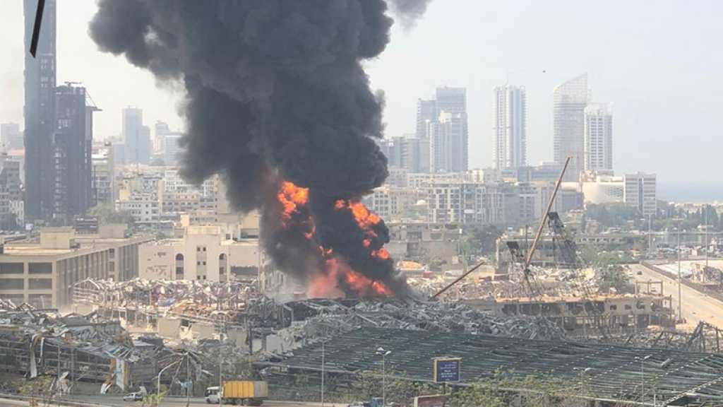 Énorme incendie au port de Beyrouth, plus d'un mois après la catastrophe