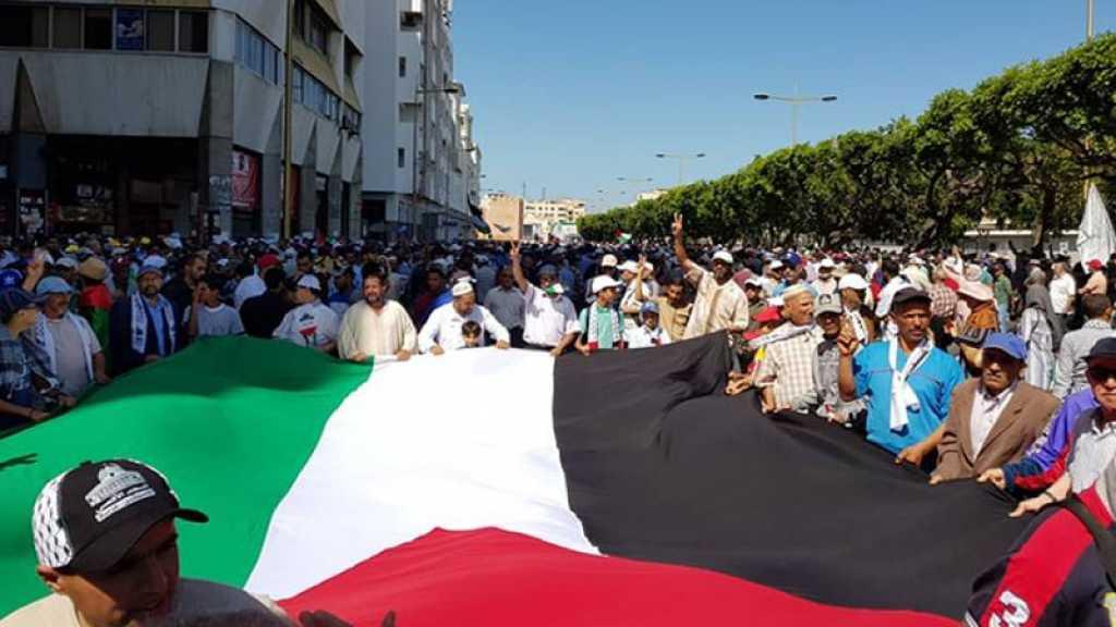 Maroc: manifestation à Rabat contre la normalisation arabe avec l'ennemi israélien