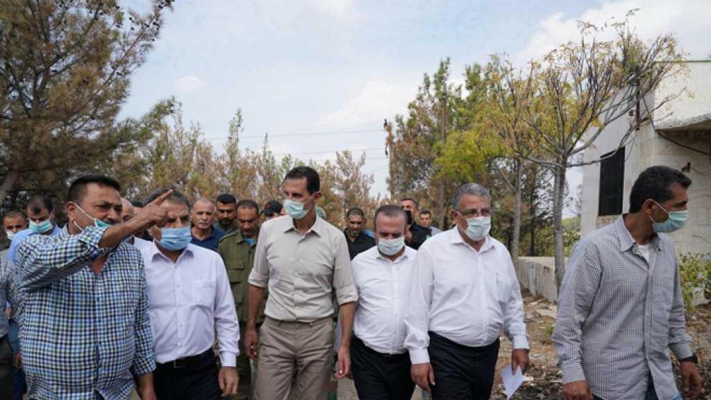 Assad: L'Etat assumera le soutien financier aux familles endommagées par les incendies