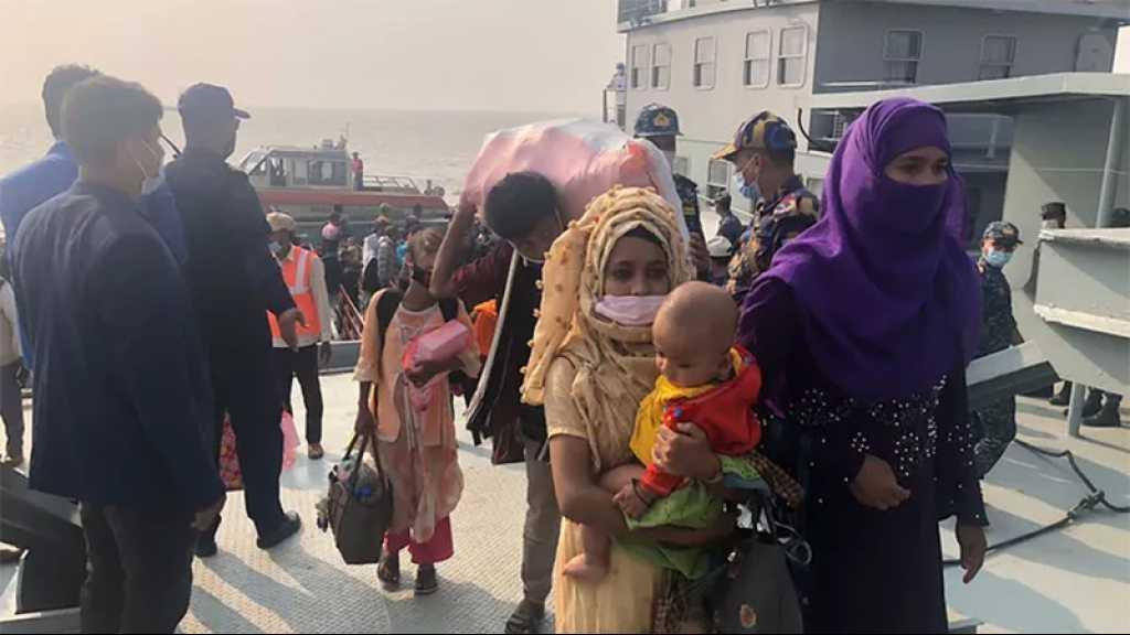 Plus de 1640 Rohingyas sont arrivés sur l'île de Bhasan Char, fréquemment inondée