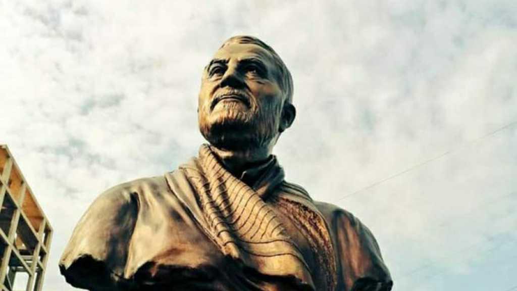 Une statue du martyr Soleimani dévoilée sur la route de l'aéroport de Beyrouth