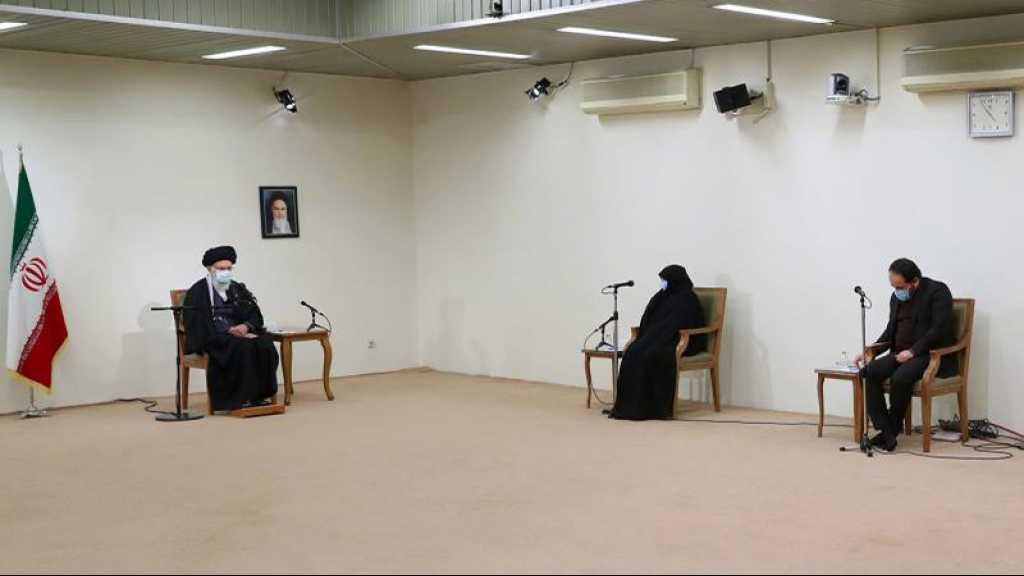 Rencontre de la famille du scientifique martyr Mohsen Fakhrizadeh avec l'Imam Khamenei