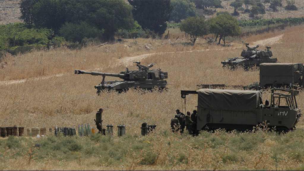 L'armée de l'occupation lance un exercice militaire le long de la frontière avec le Liban