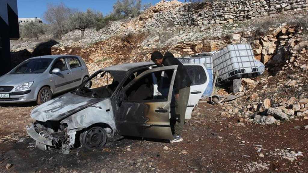 Des colons israéliens vandalisent les véhicules de Palestiniens