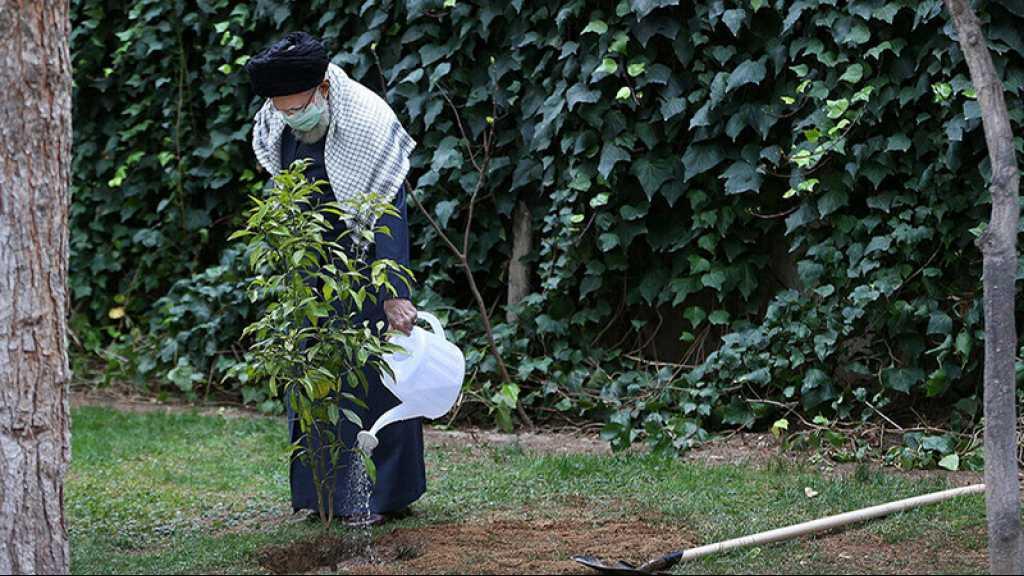 Iran: sayed Khamenei plante de jeunes arbres, à l'occasion de la Journée de l'arbre