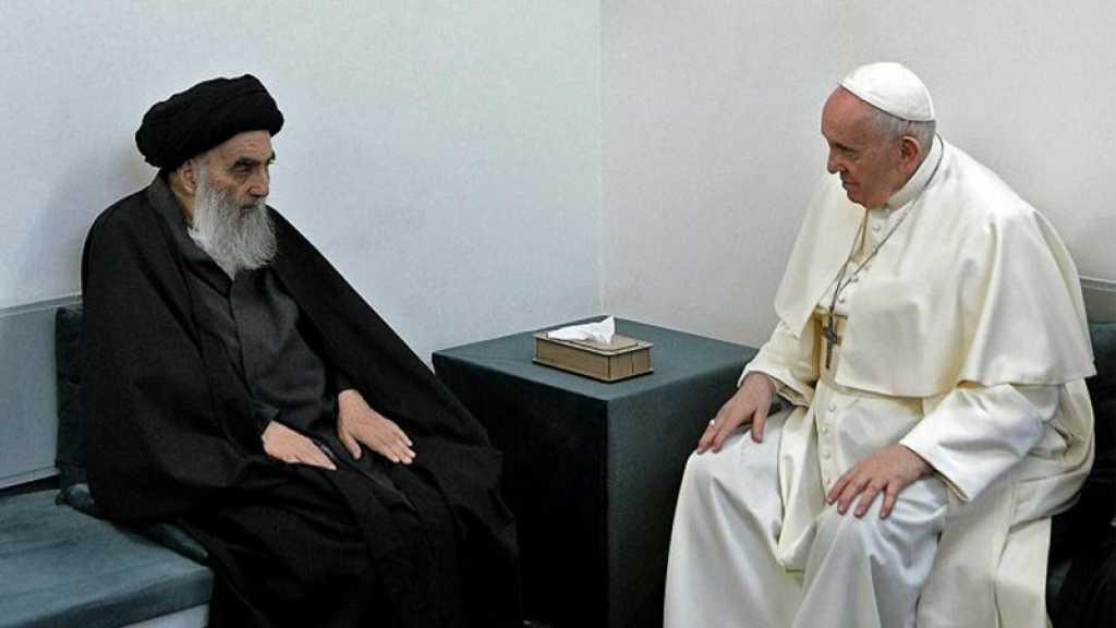 L'ayatollah Sistani au pape: les chrétiens d'Irak doivent vivre «en paix»