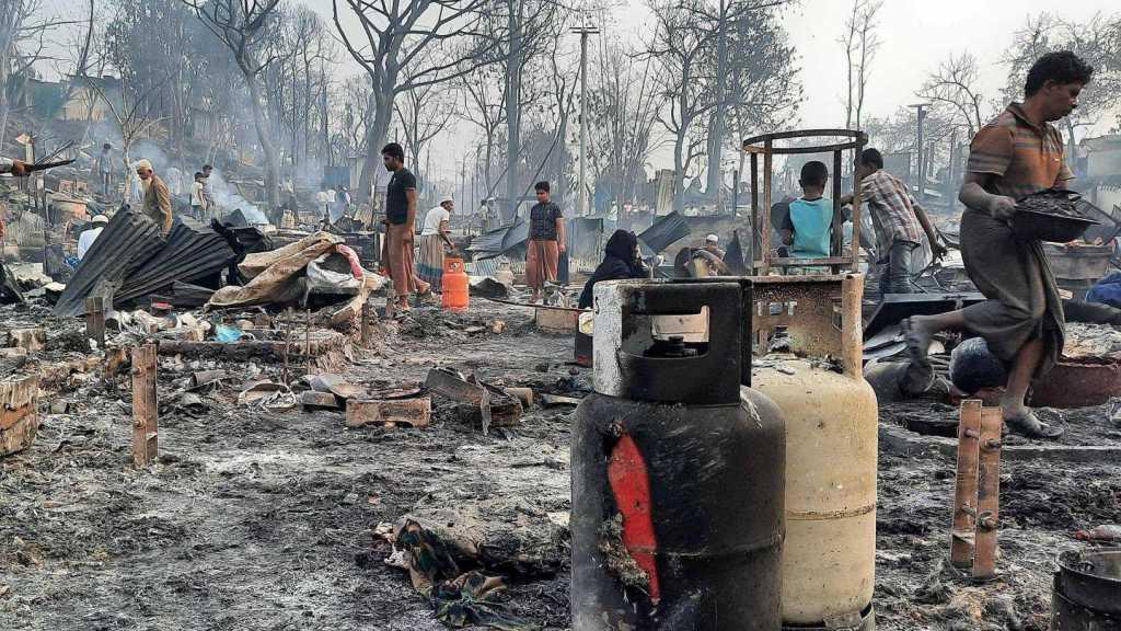 Bangladesh: au moins six morts dans l'incendie d'un camp de Rohingyas, plus de 50.000 déplacés