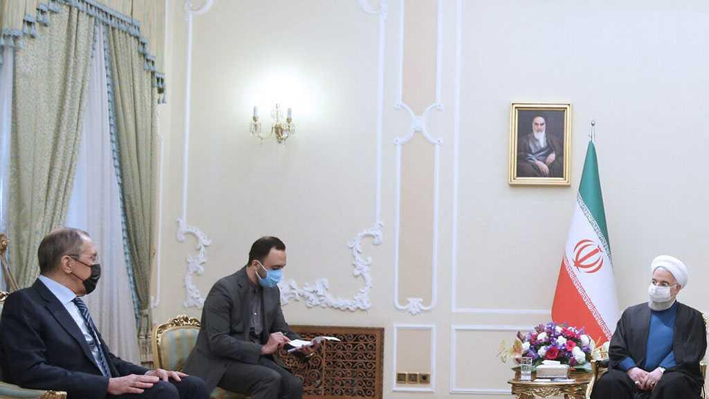 Rohani rencontre Lavrov, souligne la nécessité de maintenir la stabilité de la région par ses pays eux-mêmes