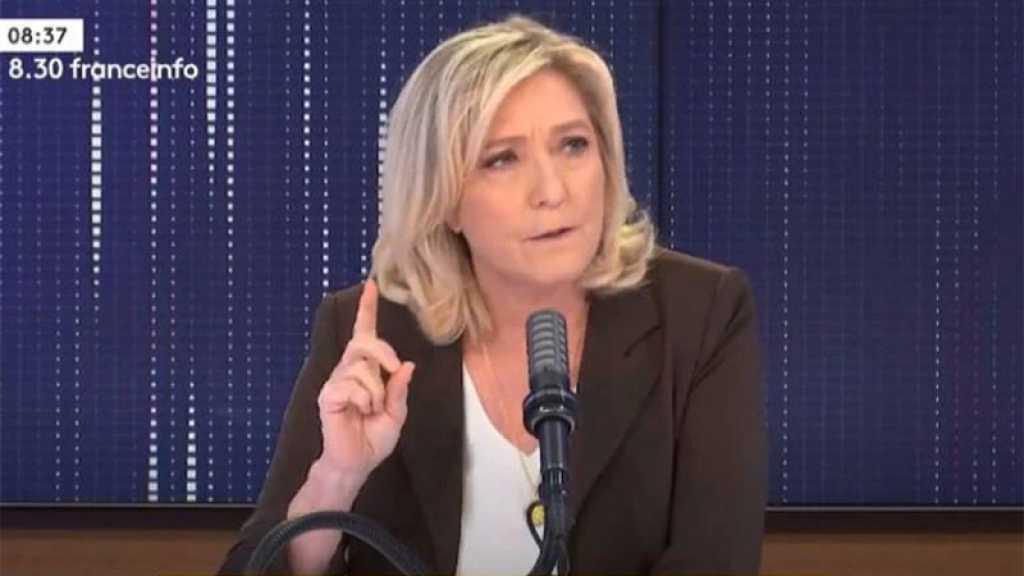 Tribune de militaires: Marine Le Pen réitère son soutien, n'y voit aucune menace de putsch