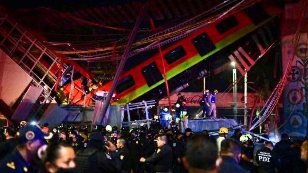 Effondrement d'un pont du métro aérien à Mexico: au moins 20 morts et 70 blessés