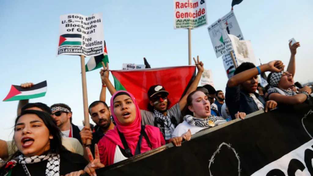 New-York: des milliers de militants pro-palestiniens rassemblés contre «Israël»