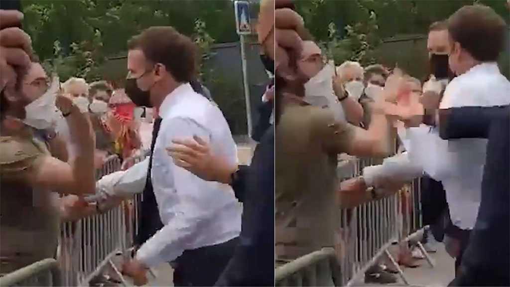 Emmanuel Macron giflé lors d'un déplacement, indignation générale