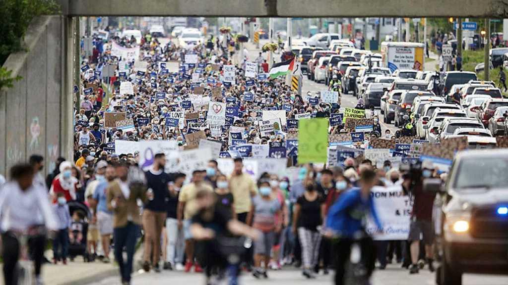 Marche oecuménique après le meurtre d'une famille musulmane à London, dans l'Ontario