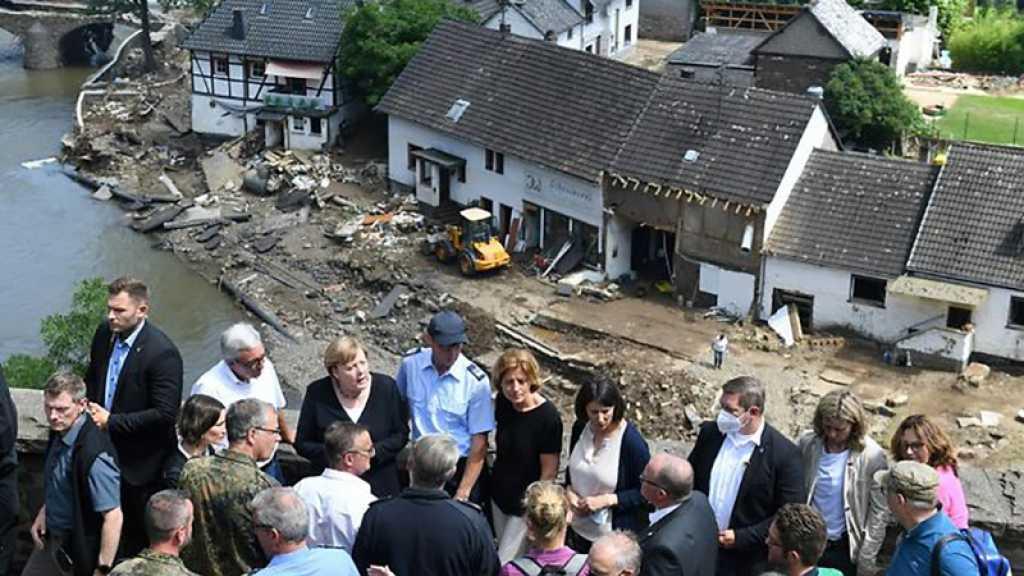 Inondations: au moins 191 morts en Europe, Merkel découvre un sinistre «surréaliste»