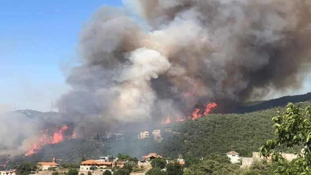 Liban: les incendies s'intensifient, la Syrie envoie ses avions pour lutter contre les feux