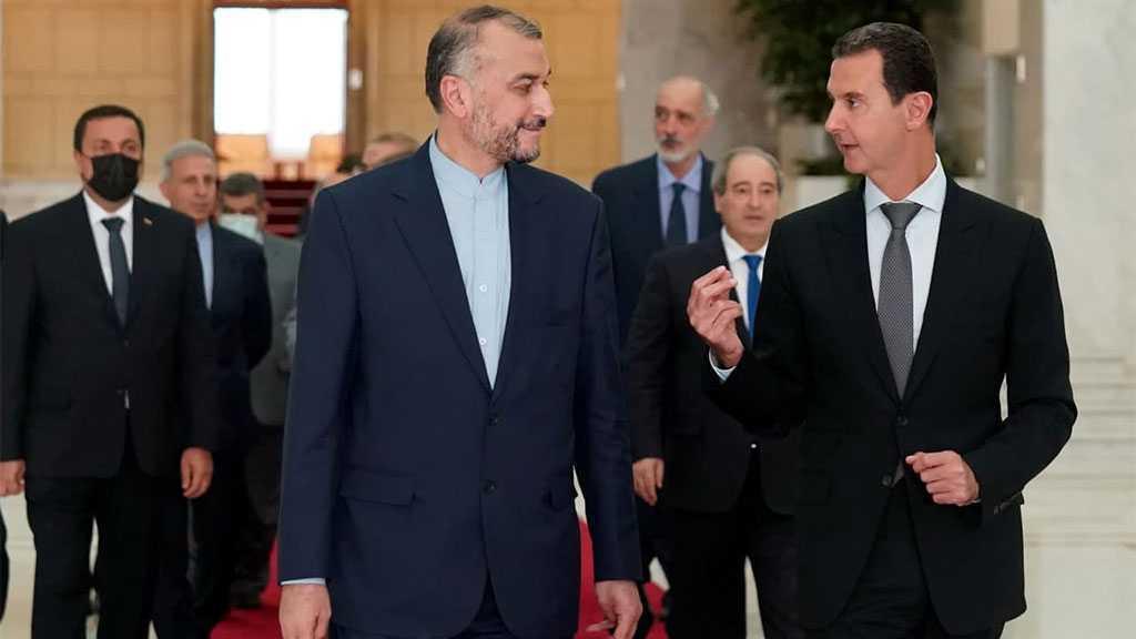 Assad examine avec le ministre iranien des AE les relations stratégiques bilatérales