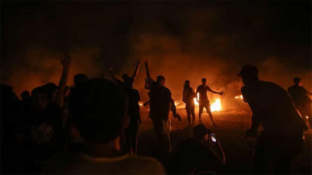 Rassemblements nocturnes à la frontière de Gaza pour la sixième soirée consécutive, un martyr palestinien