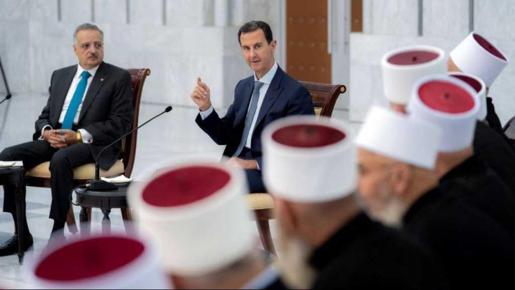Assad à une délégation libanaise druze: La Syrie soutiendra et restera aux côtés du peuple libanais
