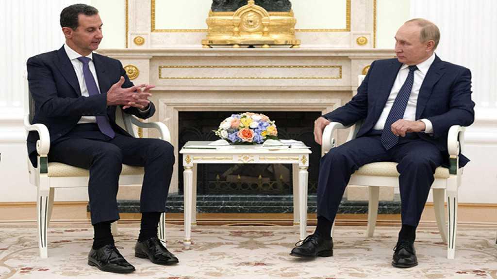 Poutine critique l'ingérence étrangère en Syrie lors d'une rencontre avec Assad