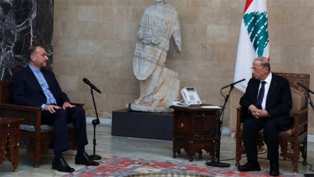 «L'Iran se tient toujours au côté du Liban», assure le chef de la diplomatie iranienne à Beyrouth